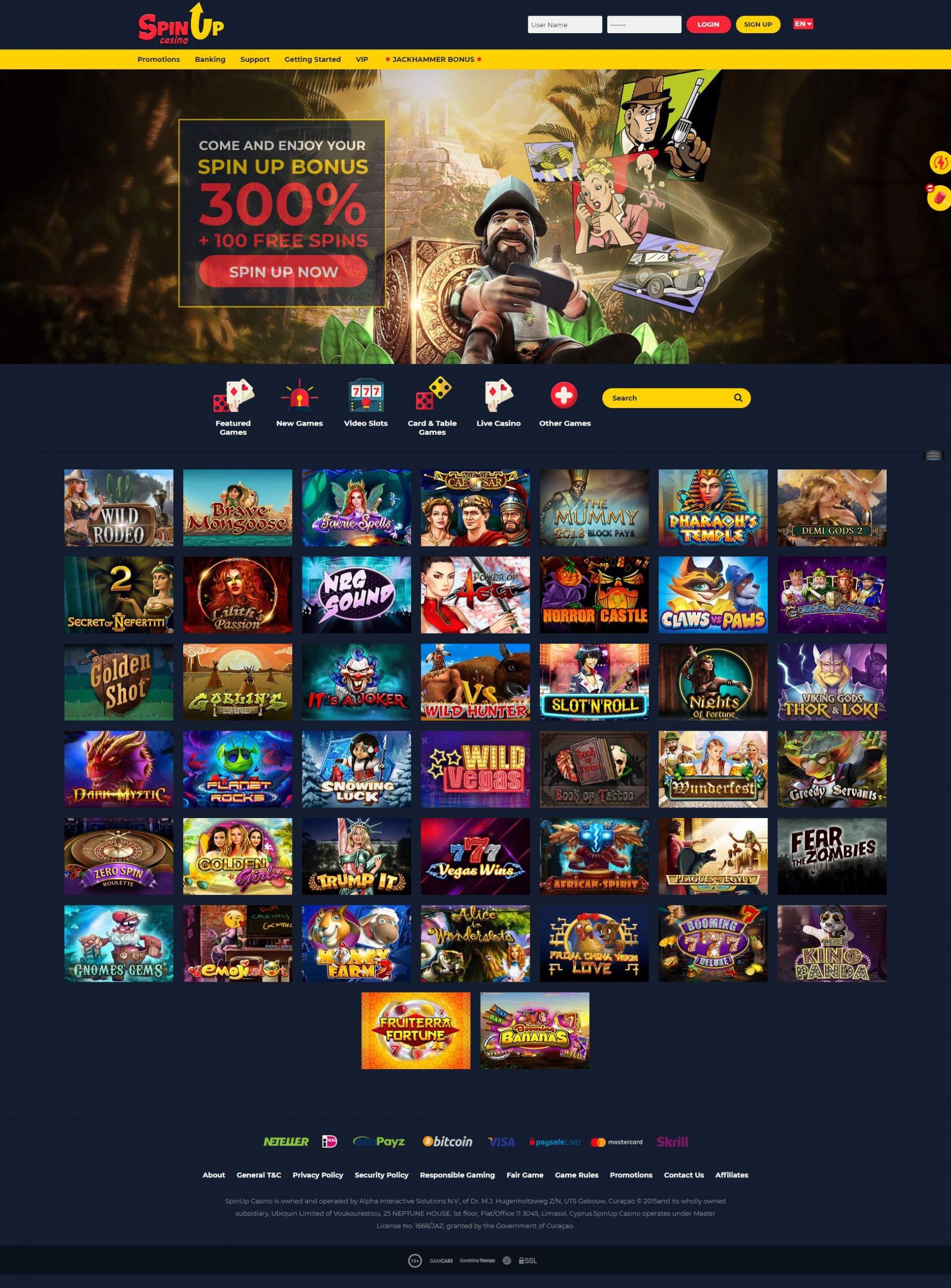 Spinup casino: test et avis